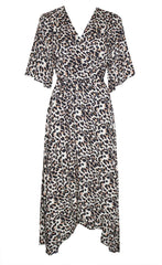 Mandy Leopard Print Wrap Dress