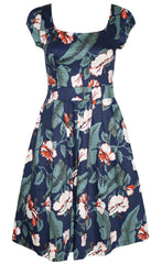 High Tea Floral Navy Dress