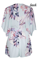 Brigitte Blue Floral Playsuit