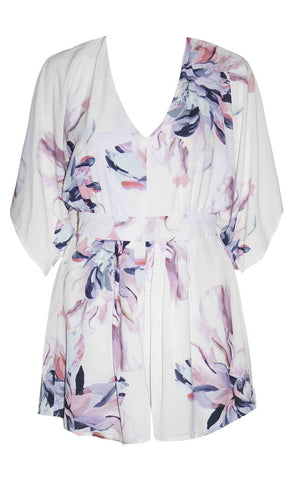 Brigitte White Floral Playsuit