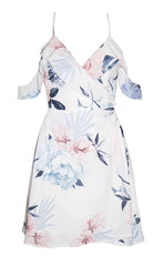 Winnie White Floral Wrap Dress