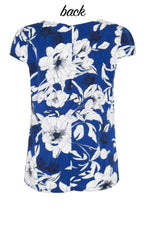 Lotus Navy Floral Top
