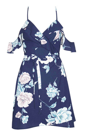 Winnie Navy Floral Wrap Dress