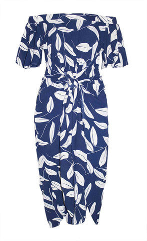 Rodeo Drive Navy Print Dress