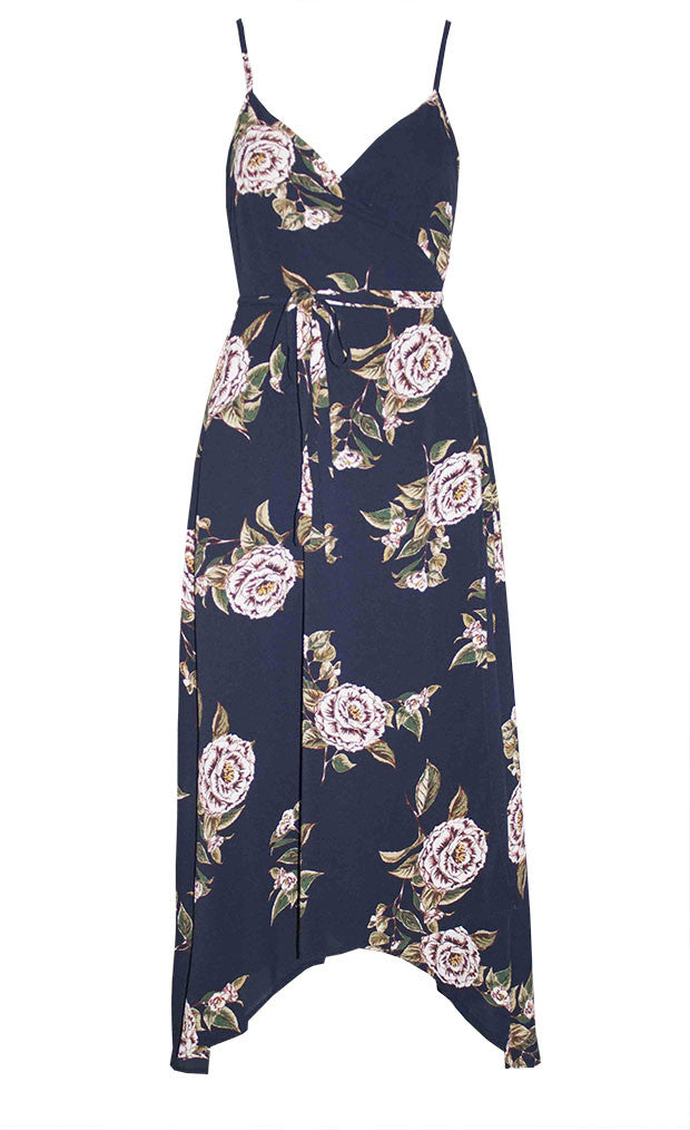 Sammy Navy Floral Wrap Dress