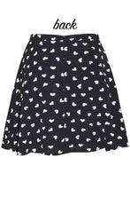 Carla Black Hearts Skirt