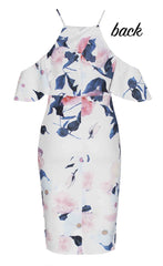 Bindy White Floral Dress