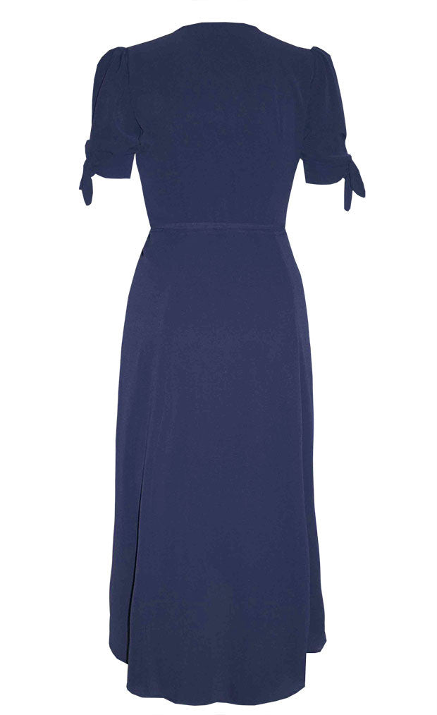 Barbie Navy Wrap Dress