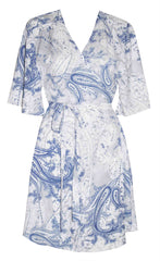 Desiree Paisley Wrap Dress