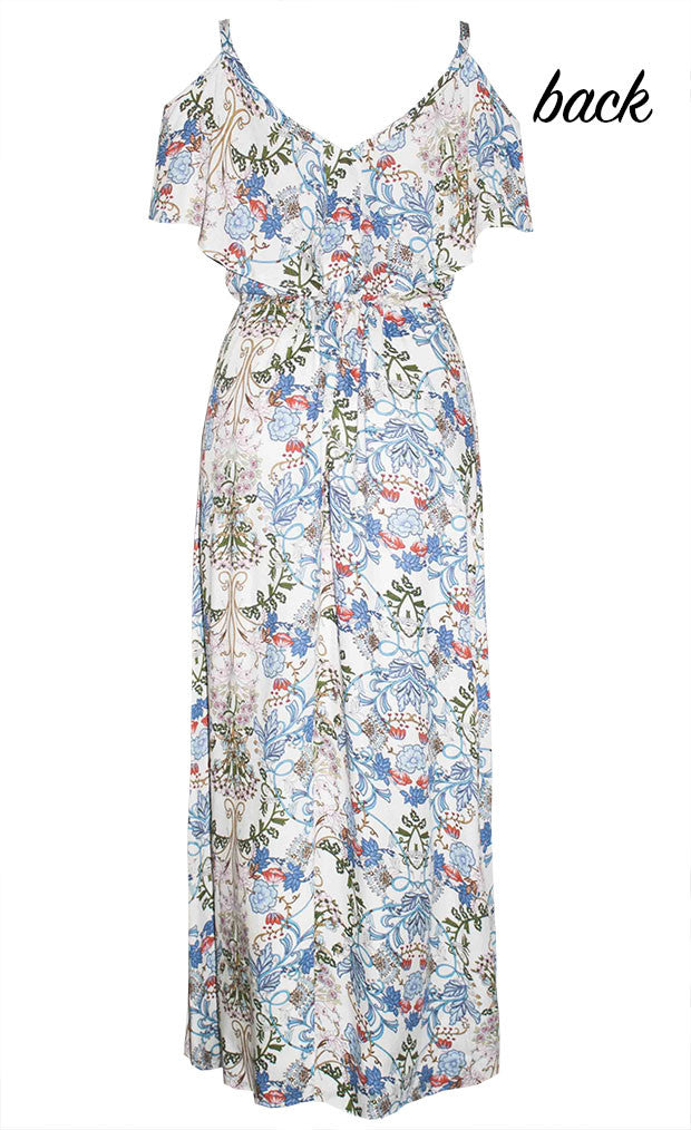 Tayla White Floral Maxi Dress