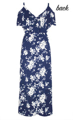 Tayla Navy Floral Maxi Dress