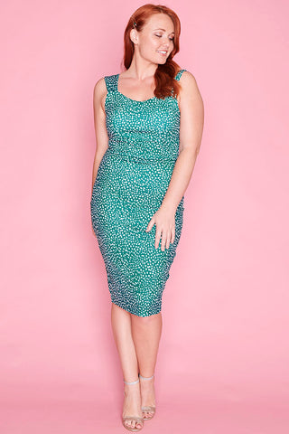 Elle Green Spots Dress