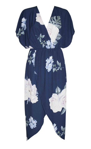Lily Navy Floral Dress