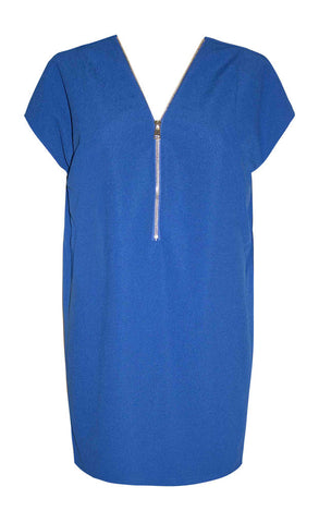Giselle Blue Zipper Dress