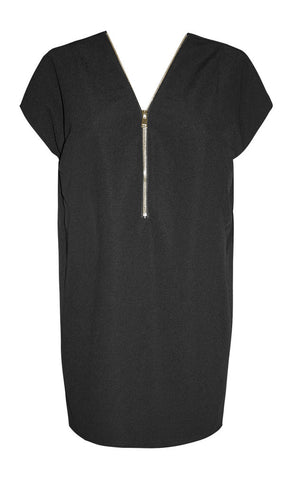 Giselle Black Zipper Dress