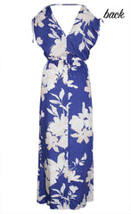 Simone Blue Floral Maxi Dress