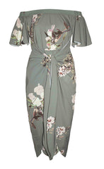 Rodeo Drive Green Floral Dress