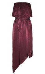 Night Sky Burgundy Dress