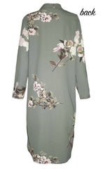 Debbie Green Floral Shirt Dress