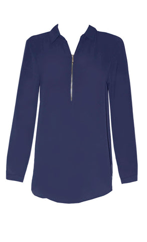 Tiffany Navy Blouse