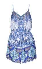 Leisa Blue Print Playsuit