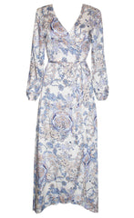Promises Beige Floral Wrap Dress