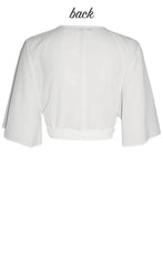 Tania White Wrap Top
