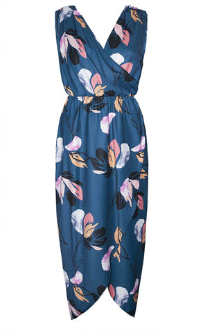 Hideaway Teal Print Maxi Dress
