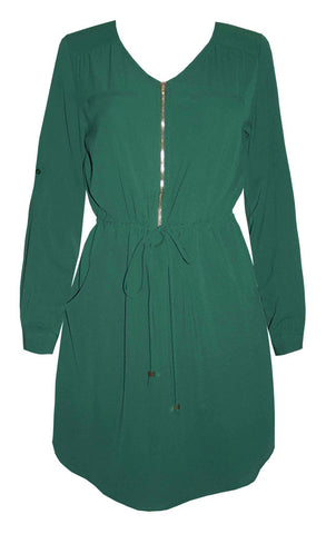Chelsea Green Shirt Dress