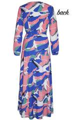 Promises Bird Print Wrap Dress