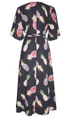 Mandy Pineapple Wrap Dress