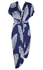Talia Navy Fern Dress