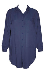 Boyfriend Navy Shirt