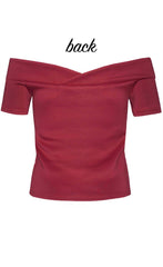 Sweet Talker Burgundy Top