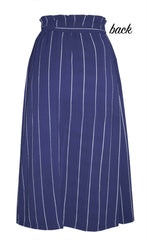 Natasha Navy Stripe Skirt