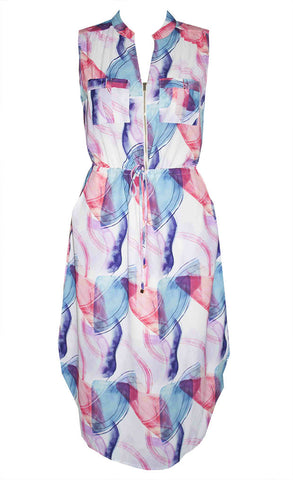 Fiona Abstract Shirt Dress