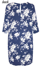 Holly Navy Floral Dress