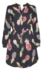 Billy Pineapple Shirt Dress