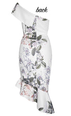 Runway White Floral Dress