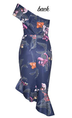 Runway Navy Floral Dress