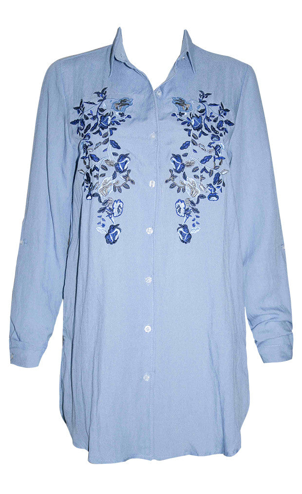 Macy Blue Chambray Shirt