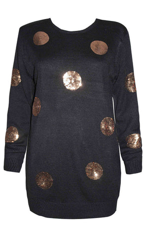 Monica Black Sequin Knit