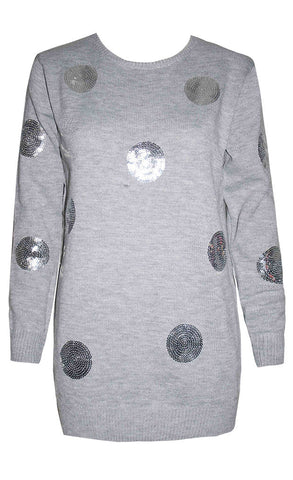 Monica Grey Sequin Knit