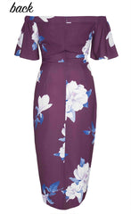 Rodeo Drive Purple Floral Dress