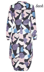 Alana Abstract Shirt Dress
