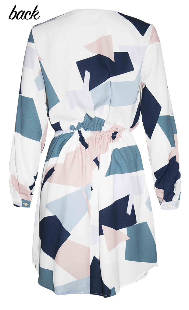 Chelsea Abstract Shirt Dress