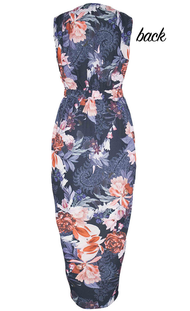 Faith Black Floral Dress
