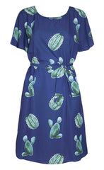 Megan Cactus Print Dress