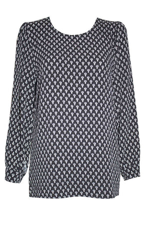 Marcy Black Print Blouse
