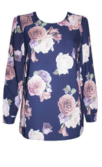 Marcy Navy Floral Blouse